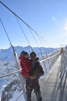 bridge on the Titlis